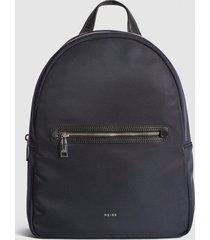 reiss ethan - nylon backpack in navy, mens