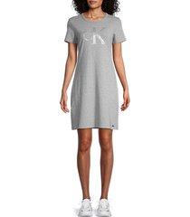 calvin klein women's logo t-shirt dress - black - size m