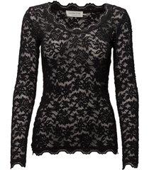 t-shirt ls t-shirts & tops long-sleeved zwart rosemunde