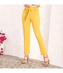 pantalón marisa amarillo para mujer croydon