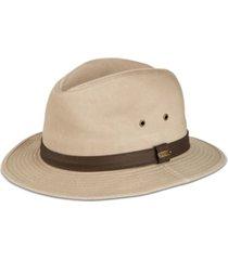stetson men's washed twill safari hat