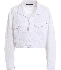 cotton denim cropped jacket