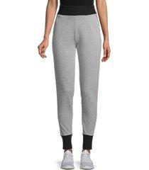 splendid women's side-stripe colorblock joggers - marled black - size xs