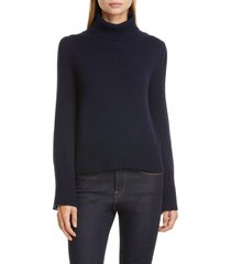 women's co bell sleeve wool & cashmere sweater, size medium - blue