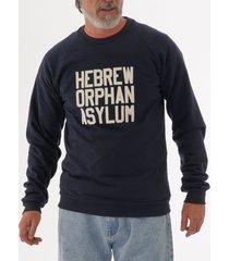 ebbets field flannels hebrew orphan asylum crew neck sweatshirt - navy hoacs