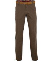 meyer pantalon roma bruin inlcusief riem