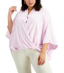 alfani plus size dolman-sleeve top, created for macy's