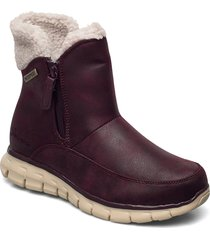 womens synergy - waterproof shoes boots ankle boots ankle boot - flat röd skechers