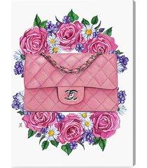 doll memories floral & purse fine art canvas print