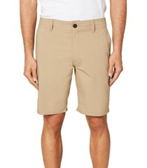 men's o'neill stockton hybrid water resistant swim shorts, size 38 - beige