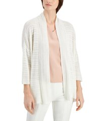 alfani stitched open-front cardigan, created for macy's