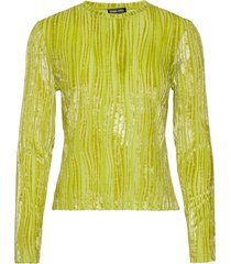 maya, 910 velvet devoré t-shirts & tops long-sleeved groen stine goya