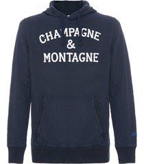 mc2 saint barth blue navy sweatshirt champagne & montagne embroidery