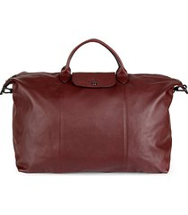le pliage leather travel satchel