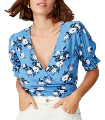 cotton on poppy short sleeve wrap top