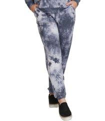 coin 1804 women's plus size tie dye drawstring waist joggers