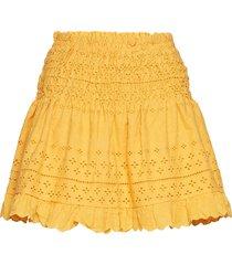 holly skirt kort kjol gul by malina