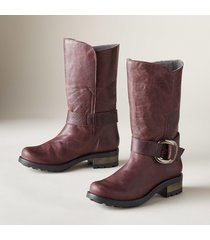 wine dress boots