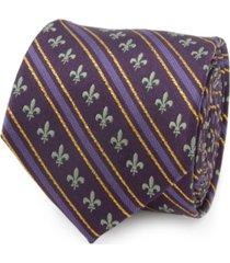 men's mardi gras stripe tie
