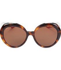 balenciaga women's 58mm cat eye sunglasses - havana