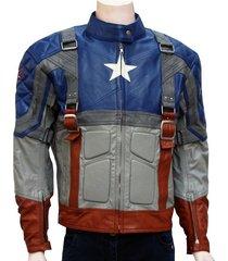handmade captain america easy rider motorcycle jacket for men