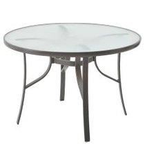 mesa macae amêndoa/vidro rivatti