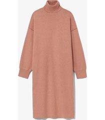 proenza schouler white label cashmere blend turtleneck dress rose/burgundy/pink l