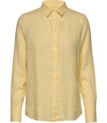 kirsten linen shirt overhemd met lange mouwen geel morris lady