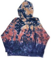 full circle trends trendy plus size tie-dyed pullover hoodie