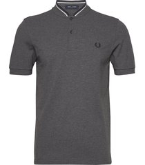 bomber collar pique t-shirts short-sleeved grå fred perry