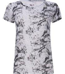 camiseta difuminada color negro, talla 10