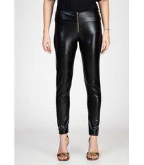 calça legging com zíper aparente sem costura lateral bloom feminina