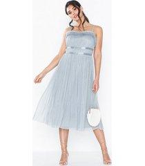 anaya ruffle edge midi dress loose fit