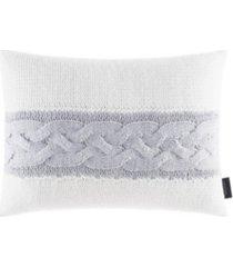 """nautica jeans co claridge stripe knit 14"""" x 20"""" throw pillow bedding"""