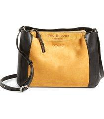 rag & bone passenger suede & leather crossbody bag -