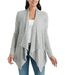 lucky brand cloud jersey open-front cardigan sweater