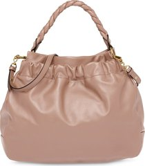 miu miu braided top handle tote bag - neutrals