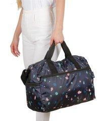maleta m plegable estampado cristales citybags multicolor
