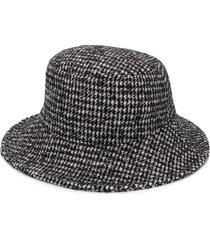 dolce & gabbana houndstooth bucket hat - black