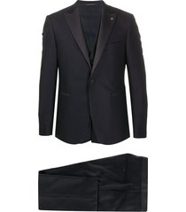 tagliatore satin panel suit set - blue