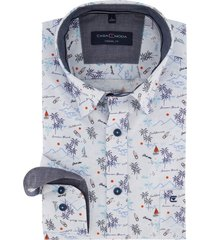casa moda overhemd eiland print casual fit