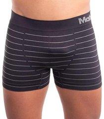 kit com 2 cuecas mash modelo boxer lisa e listras em micromodal masculina - masculino