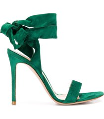 gianvito rossi ankle tie sandals - green
