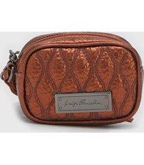 bolsa tiracolo luiza barcelos matelass㪠metalizada cobre - cobre - feminino - dafiti
