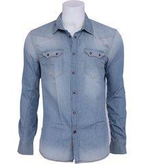 alec shirt - guess - overhemden - blauw