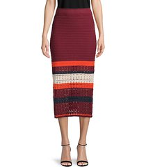 knitted colorblock cotton skirt