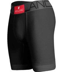 cueca boxer long leg kevland microfibra preta - preto - masculino - dafiti