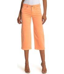 women's nydj release raw hem wide leg capri jeans, size 00 - orange