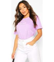 petite 'not today' washed slogan t-shirt, lilac