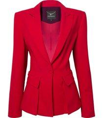 blazer le lis blanc carine detalhe faixa alfaiataria vermelho feminino (paprica/aubergine, 50)